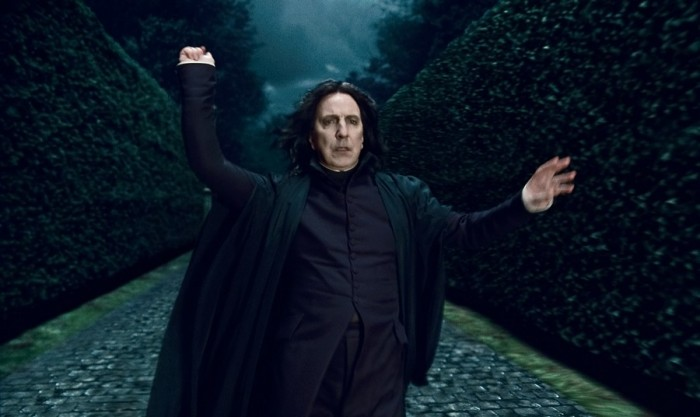 "HP7A-TR2-135 Alan Rickman as Professor Severus Snape in Warner Bros. Pictures' fantasy adventure ""HARRY POTTER AND THE DEATHLY HALLOWS – PART 1,"" a Warner Bros. Pictures release. Photo courtesy of Warner Bros. Pictures"