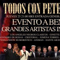 Concierto a beneficio de Peter Rock, 25 de febrero, en Santiago
