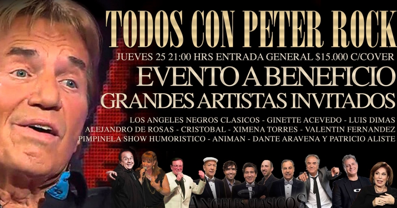 Concierto a beneficio de Peter Rock, 25 de febrero, en Santiago