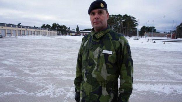 Petterson estará al mando de la unidad de combate desplegada en Gotland.