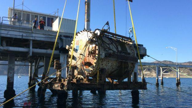 El Leona Philpot fue fue retirado del fondo del mar por primera vez tras cuatro meses.