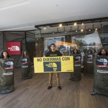 Greenpeace protesta en Vitacura contra conocida marca acusada de usar tóxicos