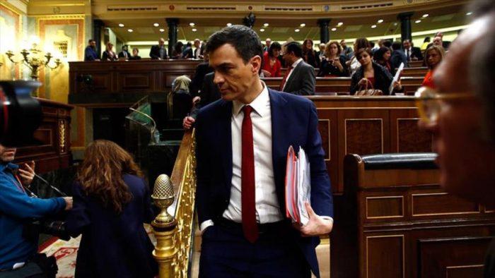 Congreso español rechazó a Pedro Sánchez (PSOE) como candidato a presidente del Gobierno