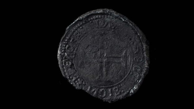 En el mundo sólo se conocía un ejemplar de la moneda Indio, acuñada por Portugal para el comercio con la India.