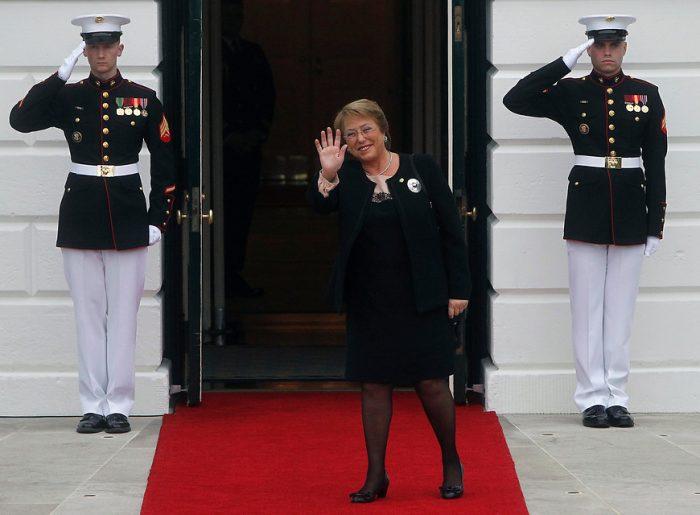 [Galería] Bachelet de visita en Washington