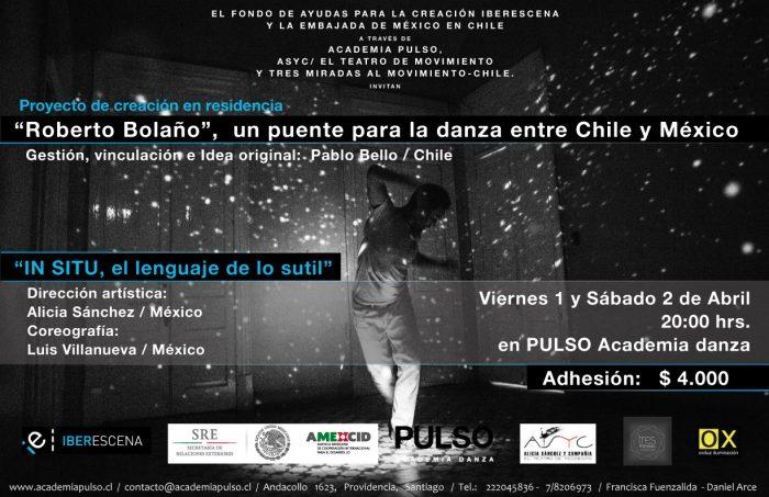 """Obra """"IN SITU: el lenguaje de lo sutil"""" dirigida por la coreógrafa mexicana Alicia Sánchez en PULSO Academia de Danza, 1 y 2 de abril"""