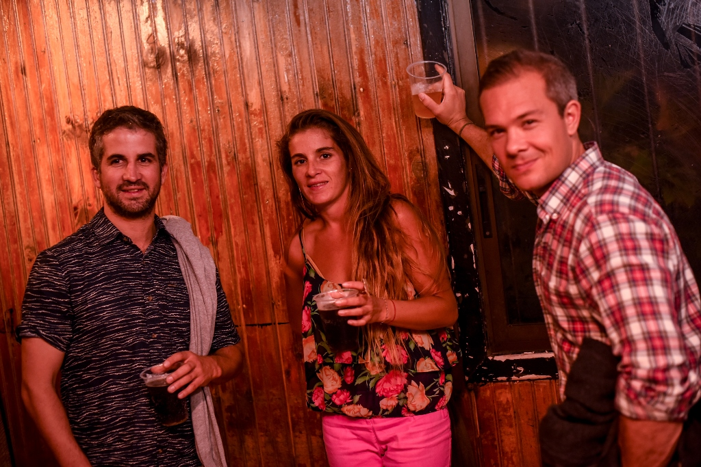 Diego Livingstone, Antonia Livingstone y Joanes Jacob.