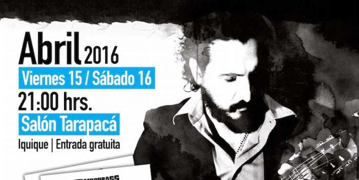 """Músico Cristián Sanhueza presenta su trabajo """"Tambobrass Acústica"""" en Salón Tarapacá de Iquique, 15 y 16 de abril"""