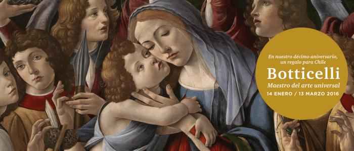 Últimos días de la obra de Botticelli en Chile en Centro Cultural La Moneda, hasta el 13 de marzo
