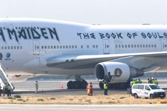 Avión de Iron Maiden sufre accidente en aeropuerto