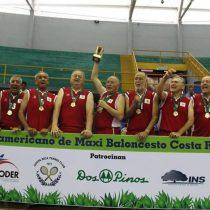 [Fotos] Abuelos ganadores: Chile campeón panamericano de maxibásquetbol tras derrotar a Uruguay