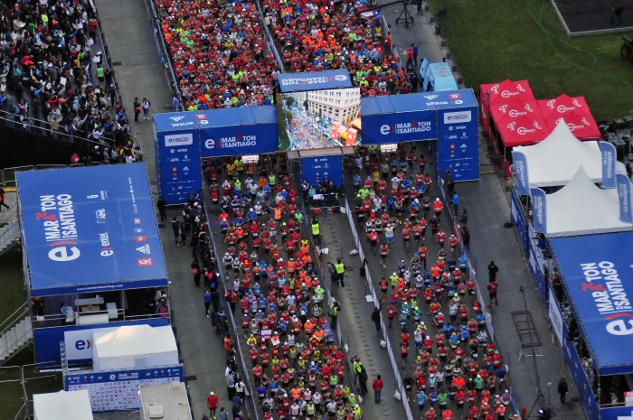 Atleta keniano logra nuevo récord en la Maratón de Santiago