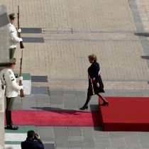 [Galeria] La despedida de Bachelet en La Moneda a Patricio Aylwin
