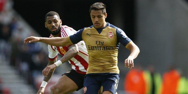 Alexis termina con su racha goleadora: Arsenal empata sin goles ante el Sunderland