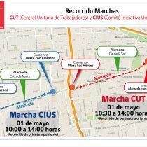 Conoce los recorridos de las marchas conmemorativas del 1 de mayo