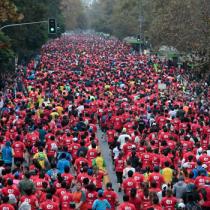 [Video] Así se vió el Maratón de Santiago desde el aire