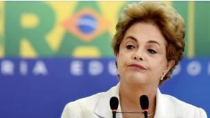 La presidenta brasileña Dilma Rousseff está a punto de ser suspendida.
