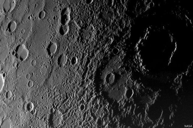 Este nivel de detalle de Mercurio sólo es apreciable con un telescopio.