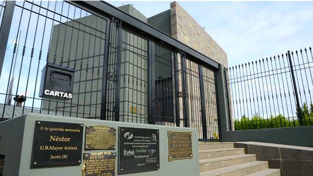 El mausoleo está cerrado al público.