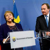 Bachelet inicia visita de Estado a Suecia con recepción en Palacio Real
