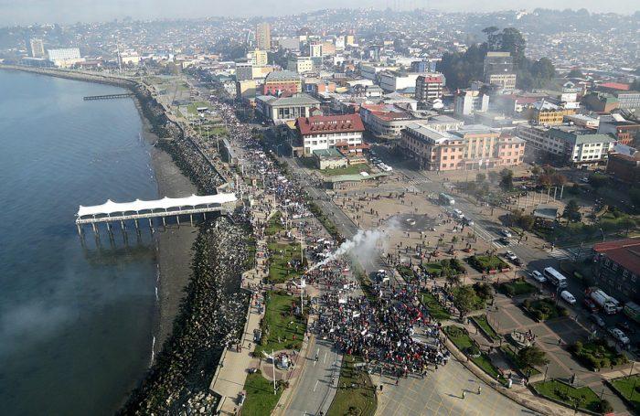 Portomontinos también se manifestaron a favor de las demandas de los pescadores de Chiloé