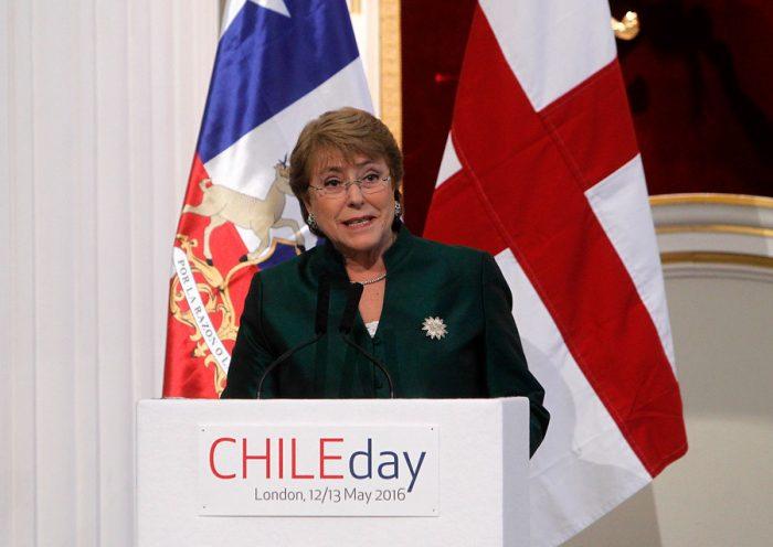Las postales de la participación de Bachelet en el Chile Day de Londres