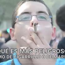 [VIDEO] Cigarro o marihuana, ¿qué es más peligroso?