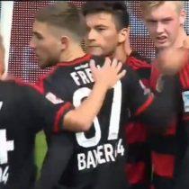 [VIDEO] Charles Aránguiz imparable: convierte nuevo gol para el Bayer Leverkusen