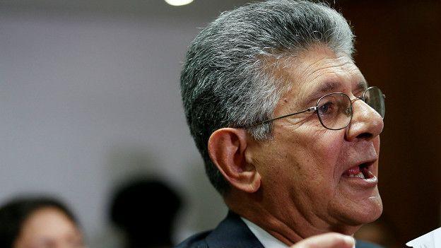 """El líder opositor Henry Ramos ha pedido a la OEA que se les permita exponer ante el Consejo Permanente """"cuál es la situación de Venezuela""""."""