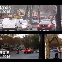 [VIDEO] Alameda sin Taxis: cómo se ve la alameda en un antes y después