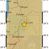 Temblor de magnitud 5,7 en regiones chilenas de Antofagasta y Atacama