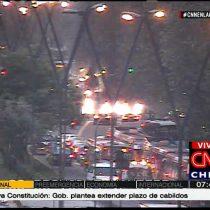 Barricadas en sector de Miguel Claro con Providencia