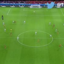 [VIDEO] Mira la perfecta coordinación de la defensa italiana desde el aire en la Eurocopa