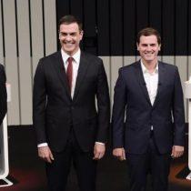 Candidatos presidenciales de España se miden en un debate para captar indecisos