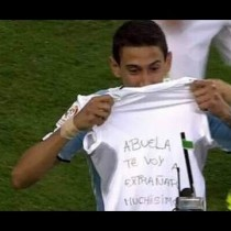 [VIDEO] El llanto de Di María por la muerte de su abuela tras el 2-1 a Chile en Copa América