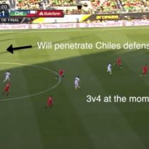 [VIDEO] El carrerón de Edson Puch que evitó el empate de México ante el 7-0 de Chile en Copa América