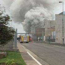 Incendio afecta a transformador de central termoeléctrica de Nehuenco en Quillota