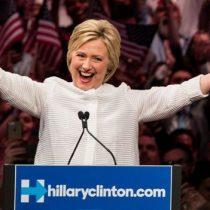 Hillary Clinton se declara vencedora y celebra ser la primera mujer candidata a la presidencia de un gran partido en EE.UU.