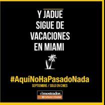 ¡Y Jadue sigue de vacaciones en Miami! #AquíNoHaPasadoNada
