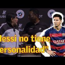 [VIDEO] Se les quedó el micrófono abierto: duras críticas de Maradona a Messi: