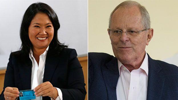 Se mantiene ligera ventaja de Kuczynski sobre Fujimori