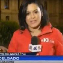 [VIDEO] Agreden a periodista mientras realizaba despacho en vivo