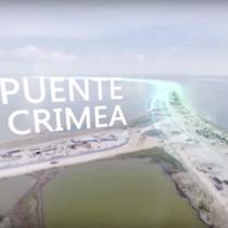 [VIDEO] En 360°: la increíble vista del puente que unirá Crimea y el resto de Rusia