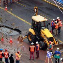 Intendencia Metropolitana responzabiliza a Aguas Andinas por la rotura de matriz