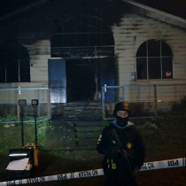 Aplican ley antiterrorista a cuatro acusados de quemar templo evangélico en La Araucanía