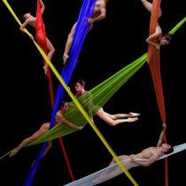 Vea aquí un adelanto de la sorprendente obra de danza aérea,