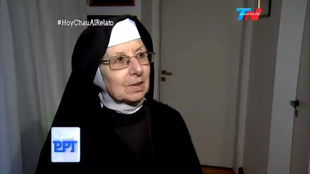 Una de las monjas habló para el canal TN.