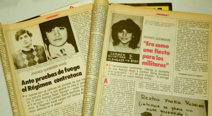 """Muestra conmemorativa por los 30 años del """"Caso quemados"""" en Museo de la Memoria y los Derechos Humanos, desde el 2 de julio"""