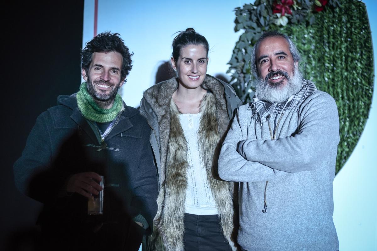 Max Zegers, Valentina Costabal y Raúl Céspedes.