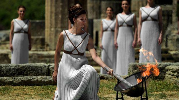 El fuego olímpico fue encendido el pasado 21 de abril en Olimpia, Grecia.